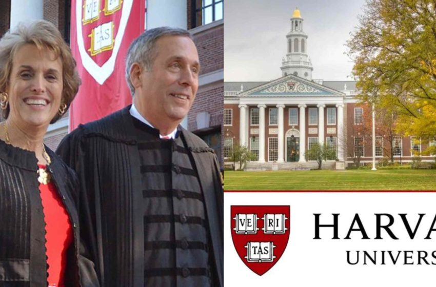 Harvard University President Bacow & his Wife Tests Positive for CoronaVirus