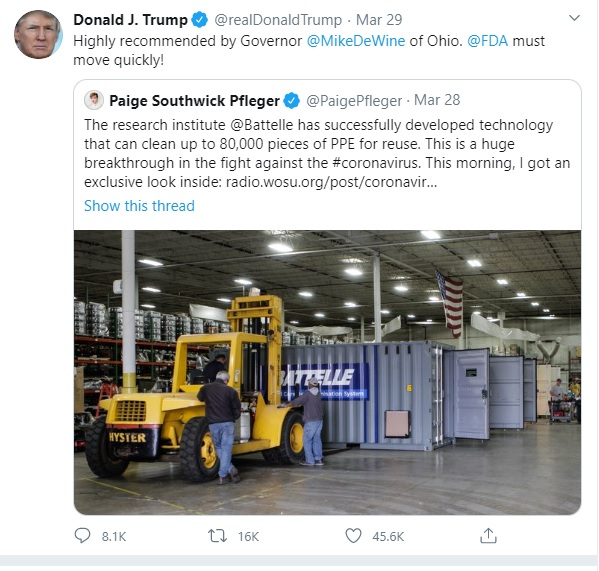 Donald Trump Mistakenly Tags a Saudi instead of FDA in Tweet about COVID-19