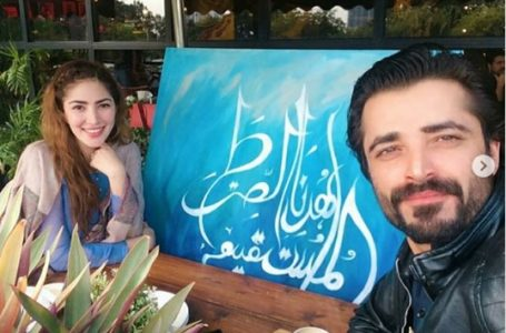 Hamza Ali Abbasi and Naimal Khawar Built TV-Table in Self-Quarantine- INTERESTING