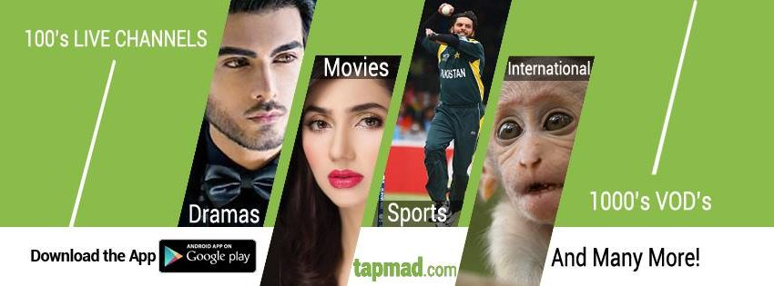 TapMad TV is a Video Streaming App & Gateway of Portable Entertainment in Pakistan