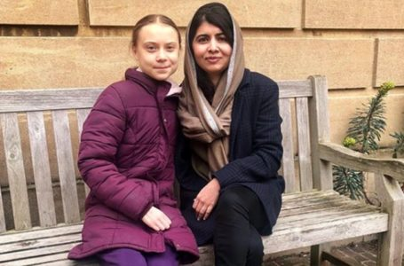 Young Activists Greta and Malala Pictured Together in Oxford