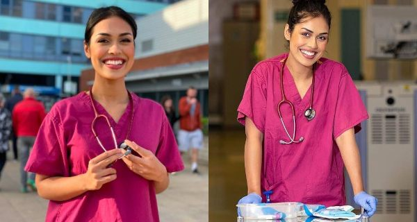 Miss England Bhasha Mukherjee Hangs up Crown to return as NHS Doctor amid COVID-19 Pandemic