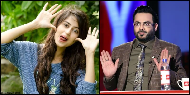 Sajal Aly Doing Hilarious Mimicry of Amir Liaquat is the Best thing on Internet Today