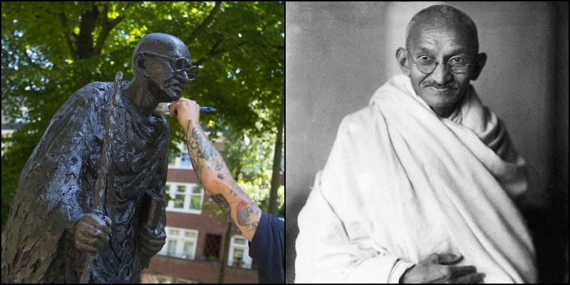 Statue of Mahatma Gandhi Vandalised in Amsterdam amid #BlackLivesMatter Protests