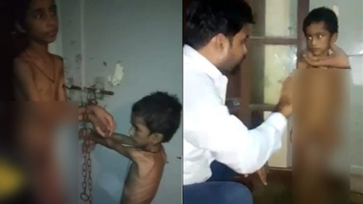 Karachi Police Rescue TWO Children Tortured and Kept in Chains by Stepmother