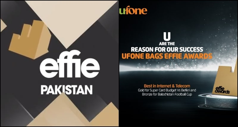 Mobile Operator Ufone Wins two Prestigious Effie Awards 2020