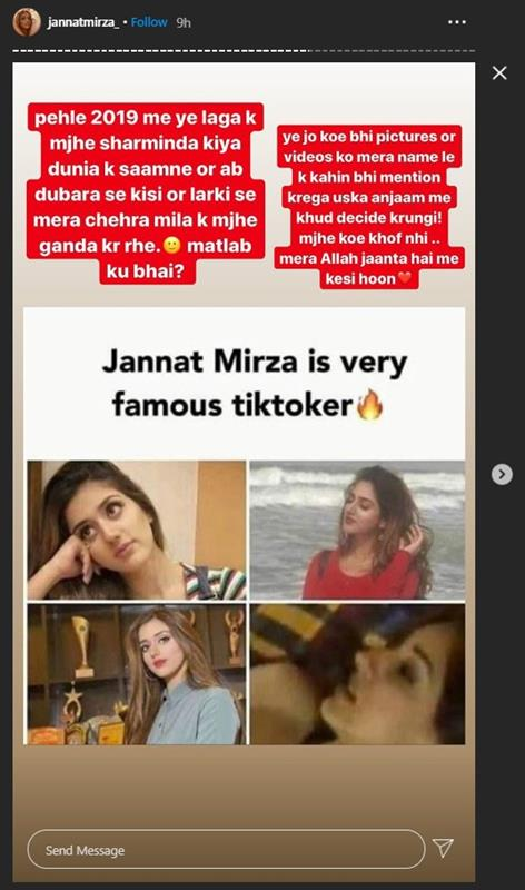TikToker Jannat Mirza Speaks Up About Leaked Pictures Going Viral on Social Media
