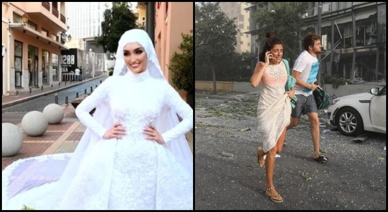 This Lebanese Bride's Wedding Video Captured During Beirut Explosion is Horrible