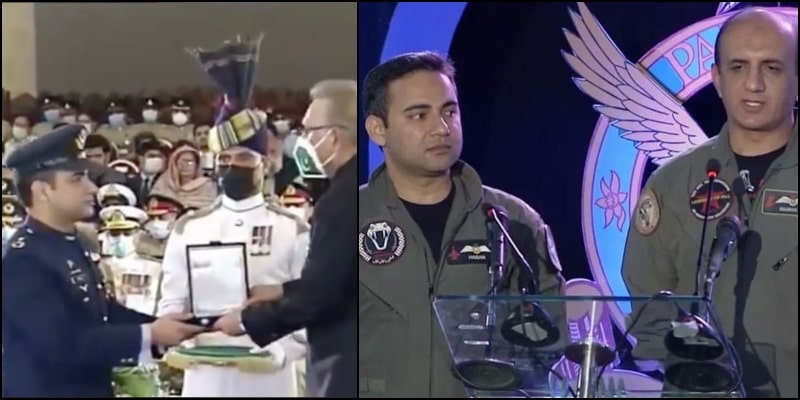 Pakistan's Star Pilots Hasan & Noman Ali Receive Military Honors For Shooting Down Indian Jet