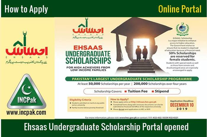 Ehsaas Undergraduate Scholarship Portal is Opened by Govt