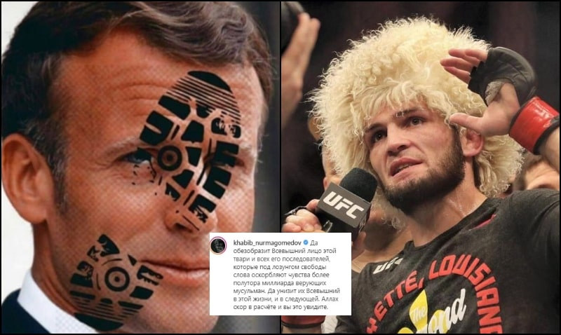 "UFC Star Khabib Slams French President: ""May the Almighty Disfigure his Face"""