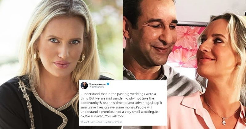 Shaniera Akram Asks People to Arrange Small Weddings during Covid Situation