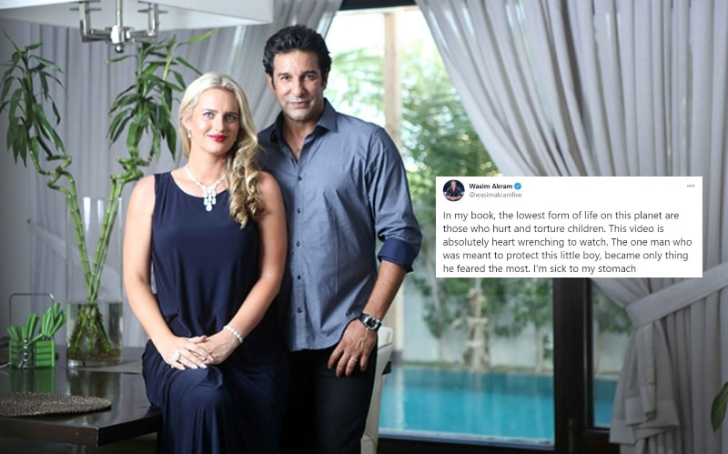 Child Abuse is the Purest form of Evil: Says the Wasim Akram and WIfe