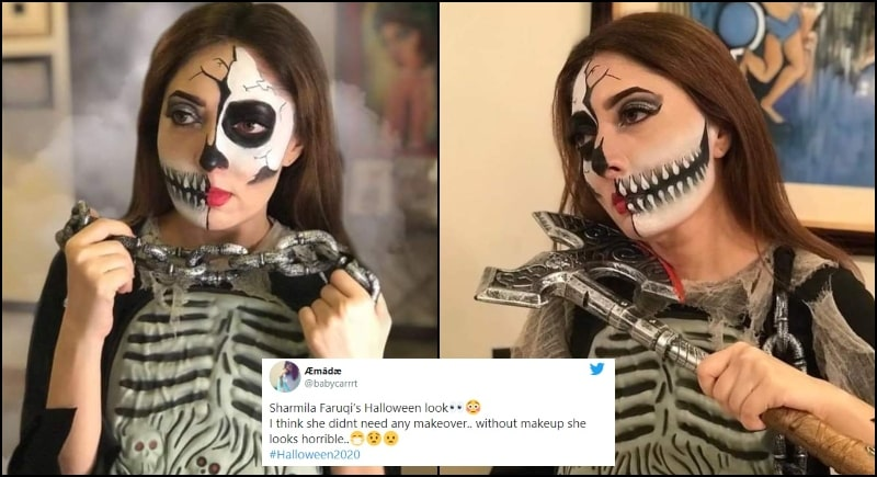 Pakistani's are Calling out Sharmila Farooqi for Celebrating Halloween