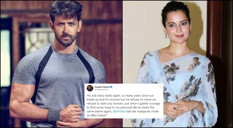 Kangana Ranaut Mocks Hrithik's Sob Story about their Previous Little Affair