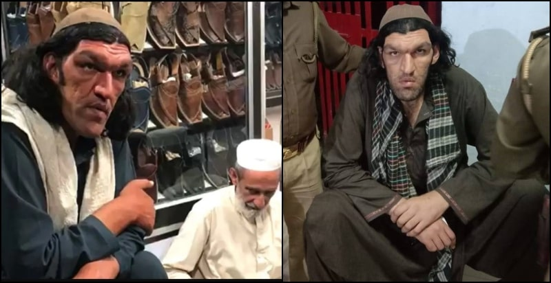 Giant-Man Sher Khan From Kabul Came to Pakistan for Customized Chappals for his 2 Feet HUGE FEET