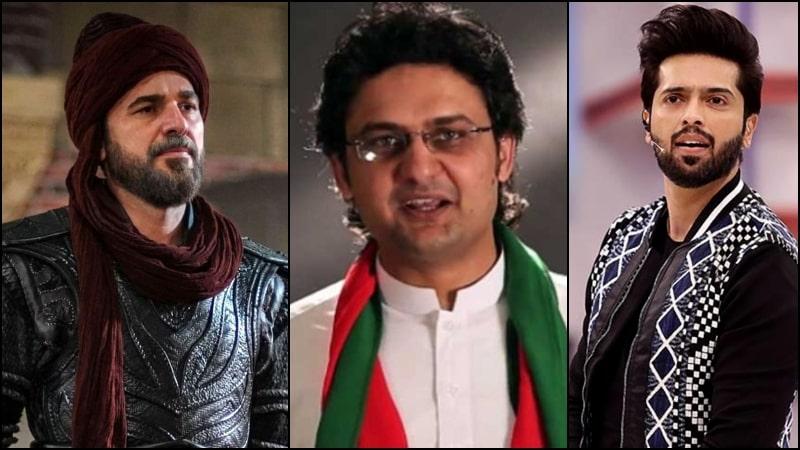 PTI's Faisal Javed Defends Ertugrul's Engin Altan after Fahad Mustafa's Remarks