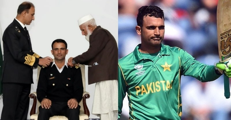 Cricketer Fakhar Zaman Made Honorary Lieutenant by Pakistan Navy