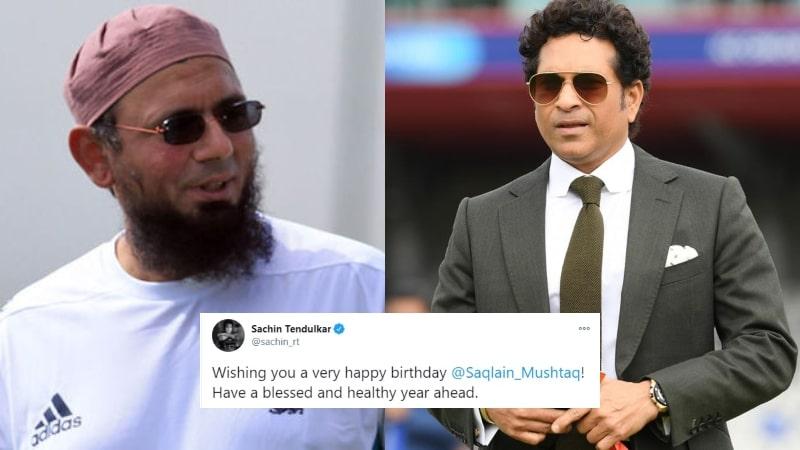 Legend Sachin Tendulkar Greets Birthday Wish to Another Legend Saqlain Mushtaq