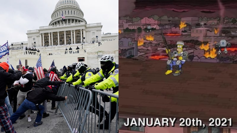 SHOCKING: 'The Simpsons' Predicted The US Capitol Riots In 1996