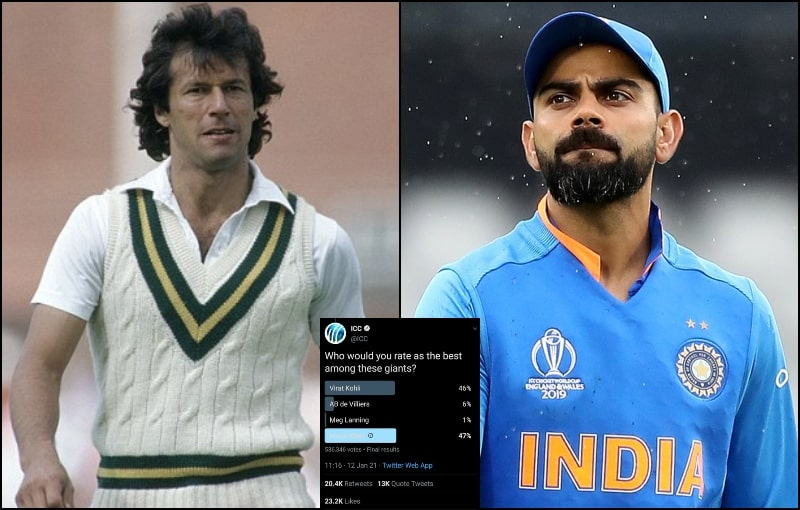 Imran Khan Ranks at the Top in ICC Poll for Best Captain on Twitter