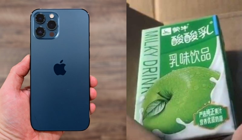 This Woman Orders an iPhone 12 Pro Max But Received Apple-Flavored Yogurt Instead