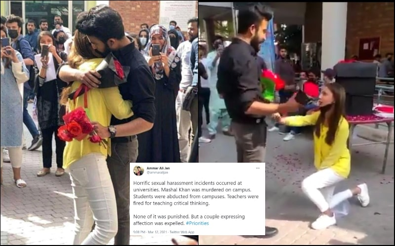 Twitter is Furious after Lahore University Expels Students for Public Proposal