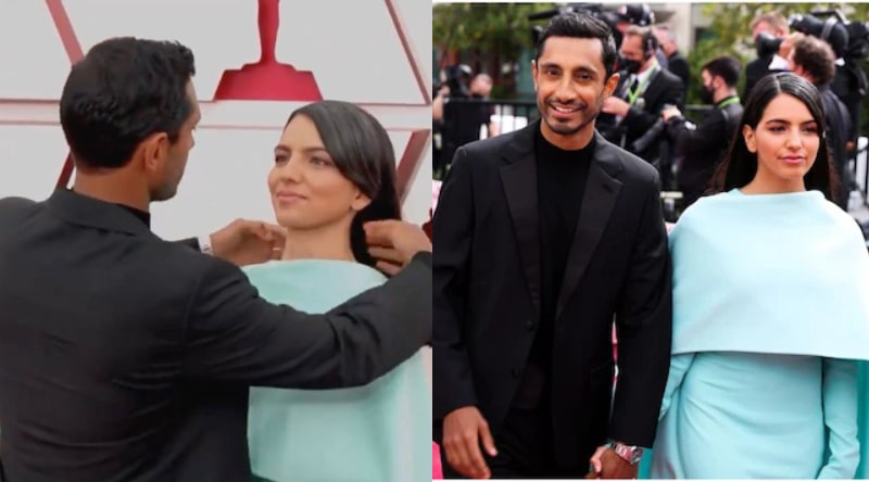 Riz Ahmed Fixing his Wife's Hair on Red Carpet is an Award-Winning Act