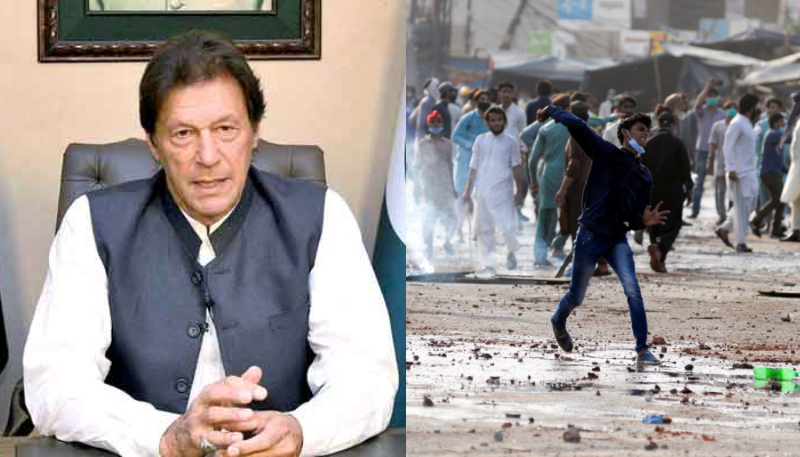 PM Imran Pays Tribute to Police for 'Heroic Stand' against TLP Violence