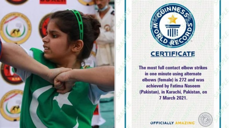 Little Pakistani Martial Artist Fatima Naseem Breaks Indian World Record