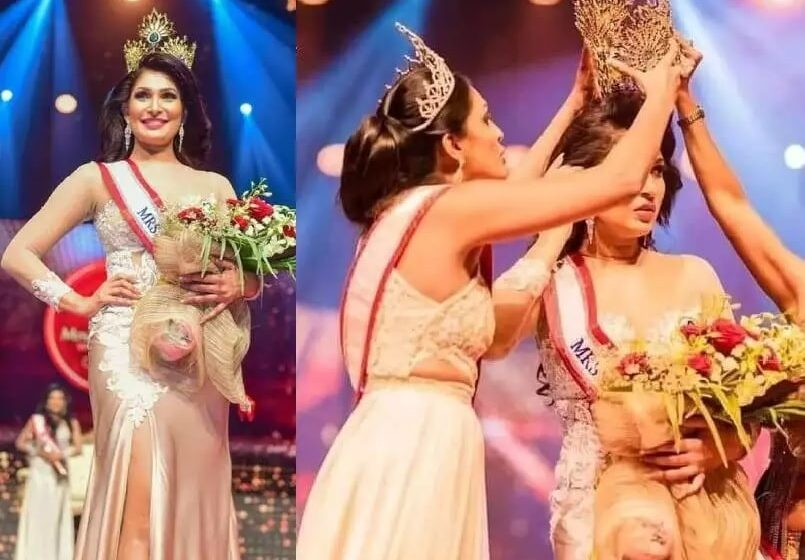 Here is Why Mrs. Sri Lanka Stripped of her Crown on Stage by Former Winner