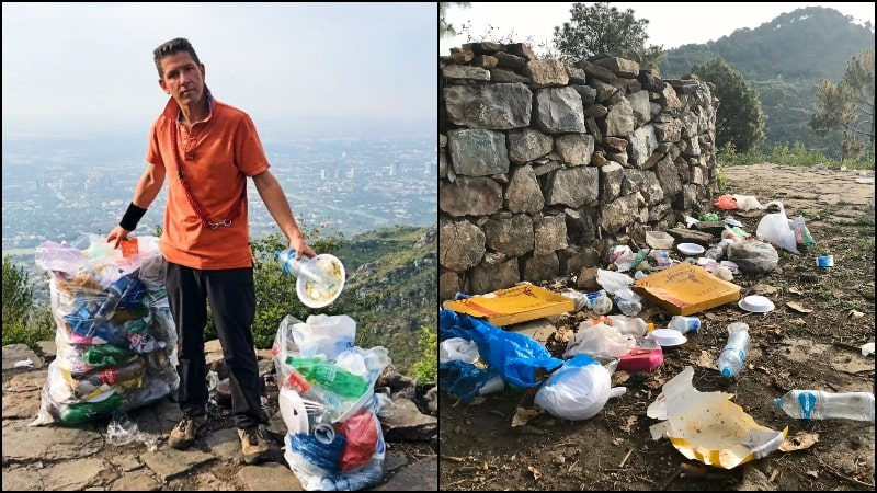 British High Commissioner Collects Garbage from Margalla Hills