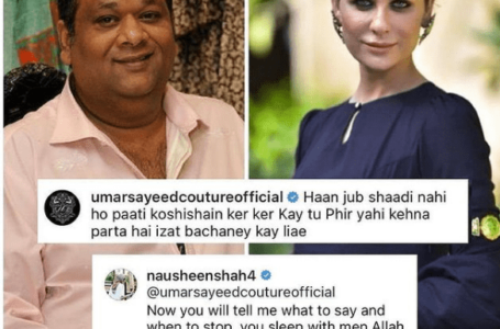 Nausheen Shah's Online Feud with Designer Umar Sayeed on Posting Frustrated Post
