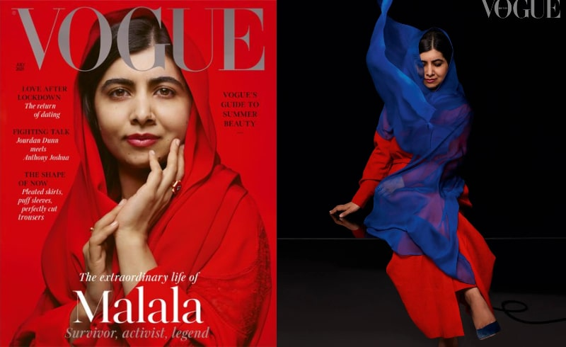 Malala Yousuf Zai's Glamorous Look on Vogue Cover