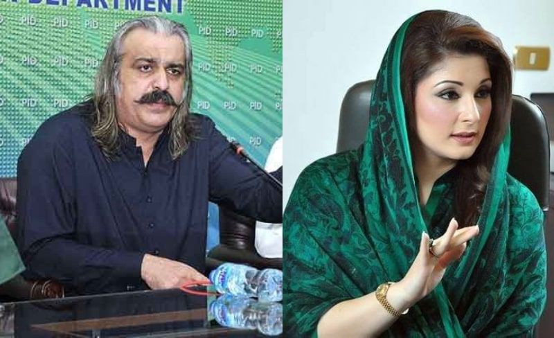 Federal Minister Ali Amin Gandapur's Sexist Comments about Maryam Nawaz stir Anger on Twitter